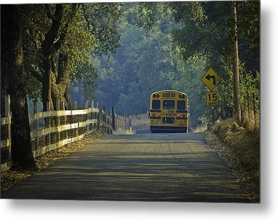 Off To School Metal Print by Sherri Meyer