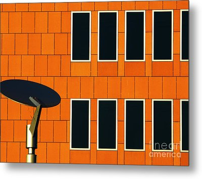 Office Black Out Metal Print
