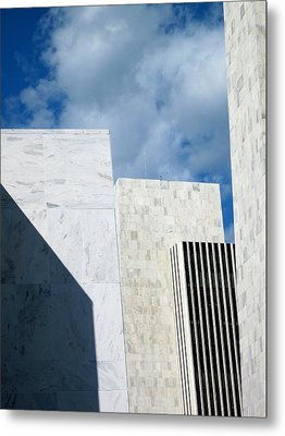 Metal Print featuring the photograph Office Building Abstract by Mary Bedy