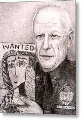 Officer Picasso Police Sketch Artist Metal Print by Jack Skinner