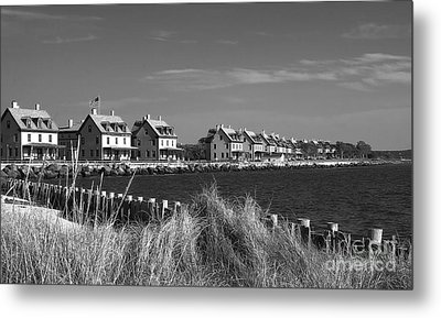 Metal Print featuring the photograph Officers Row - Sandy Hook by Vicki DeVico