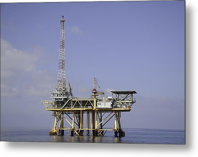 Metal Print featuring the photograph Offshore Gas Platform by Bradford Martin