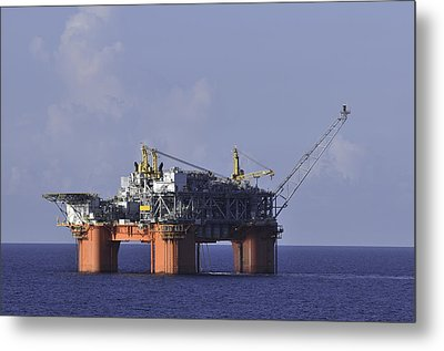 Metal Print featuring the photograph Offshore Production Platform by Bradford Martin