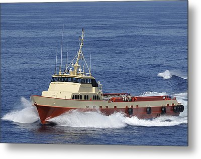 Offshore Supply Vessel Metal Print