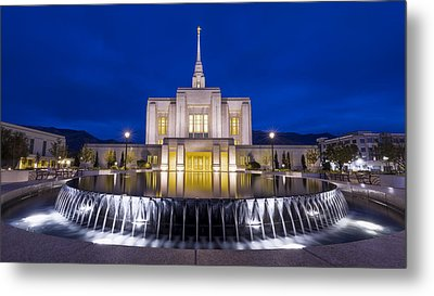 Ogden Temple II Metal Print by Chad Dutson