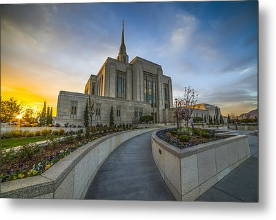 Ogden Temple Utah Metal Print by Peter Irwindale