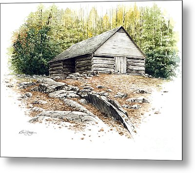 Metal Print featuring the painting Ogle Barn - 1880 by Bob  George