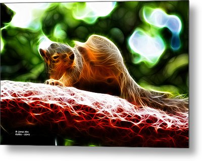 Oh Buggers I Itch - Fractal - Robbie The Squirrel Metal Print by James Ahn