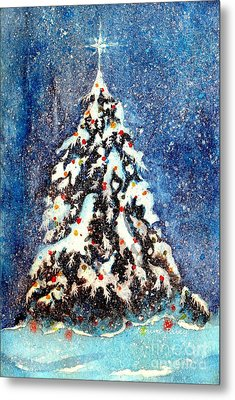 Oh Christmas Tree Metal Print by Janine Riley