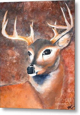 Oh Deer Metal Print by Denise Tomasura