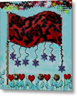 Oh Happy Days Flag Metal Print by Pepita Selles