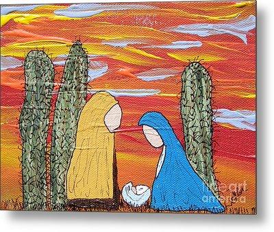 Oh Holy Desert Night Metal Print by Marcia Weller-Wenbert