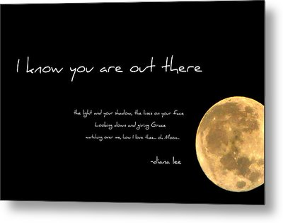 Oh Moon Metal Print by Diana Angstadt