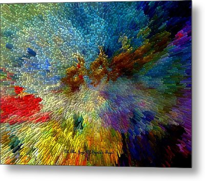Metal Print featuring the painting Oh The Joys Of Santa's Toys by Lisa Kaiser