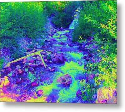 Metal Print featuring the photograph Ohanapecosh River by Ann Johndro-Collins