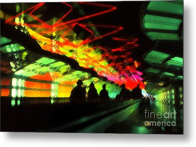 O'hare Airport Metal Print by Jeff Breiman