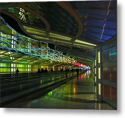 Metal Print featuring the photograph O'hare Color by Rhonda McDougall