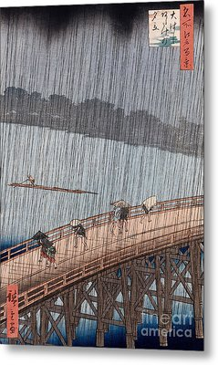 Ohashi Sudden Shower At Atake Metal Print