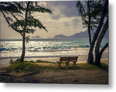 Metal Print featuring the photograph Oahu Sunrise by Steven Sparks