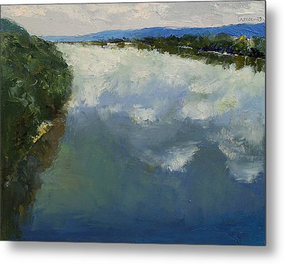 Ohio River Painting Metal Print by Michael Creese