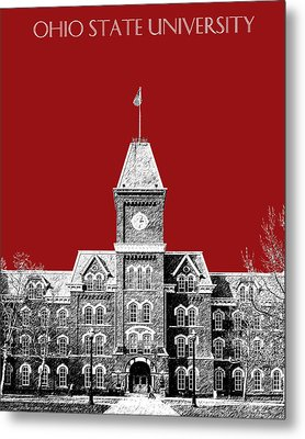 Ohio State University - Dark Red Metal Print