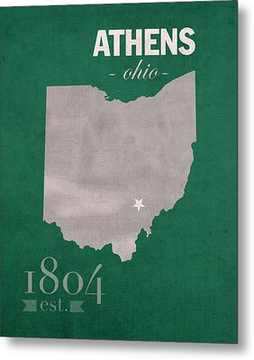 Ohio University Athens Bobcats College Town State Map Poster Series No 082 Metal Print