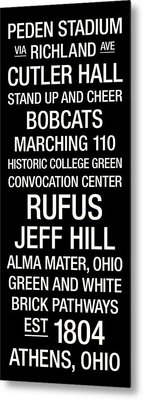 Ohio University College Town Wall Art Metal Print