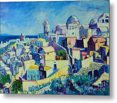 Metal Print featuring the painting OIA by Ana Maria Edulescu