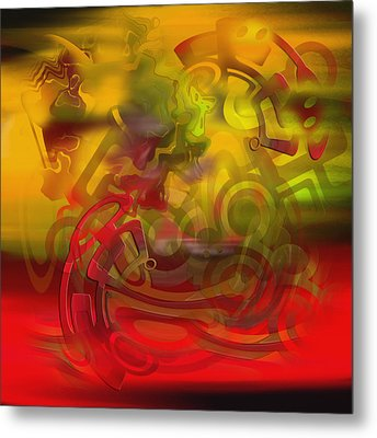 Metal Print featuring the digital art Oil 444 by Andy Walsh