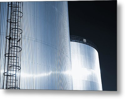 Oil And Gas Refinery Metal Print by Christian Lagereek