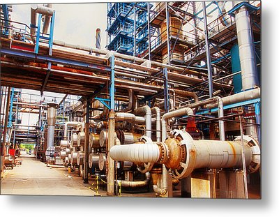 Oil And Gas Refinery Engineering And Technology Metal Print