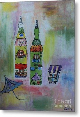 Oil And Vinegar Metal Print by PainterArtist FIN
