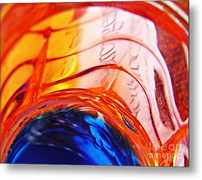 Oil And Water 26 Metal Print by Sarah Loft