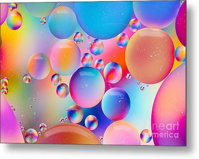 Oil And Water Metal Print by Dawna  Moore Photography