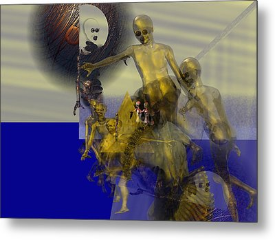Oil Child Abdution #61_p Metal Print by Stephen Donoho