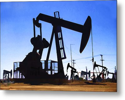 Oil Fields Metal Print