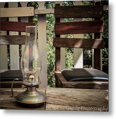 Metal Print featuring the digital art Oil Lamp 2 by Gandz Photography