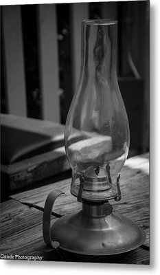 Metal Print featuring the digital art Oil Lamp by Gandz Photography