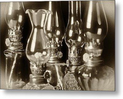 Oil Lamps Metal Print by Patrick M Lynch