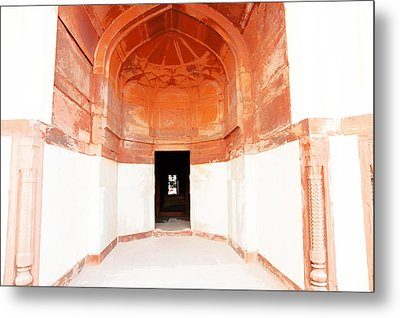 Oil Painting - Doorway In Humayun Tomb Metal Print