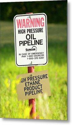 Oil Pipeline Metal Print