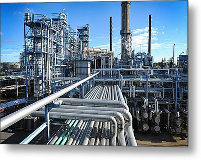Oil Refinery Overall View Metal Print by Christian Lagereek