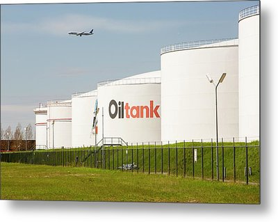 Oil Terminal In Amsterdam Metal Print by Ashley Cooper