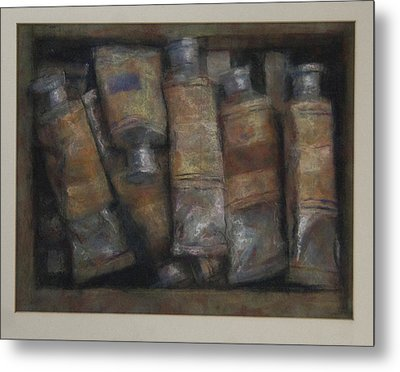 Oil Tubes Metal Print by Paez  Antonio