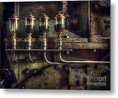 Oil Valves Metal Print by Carlos Caetano