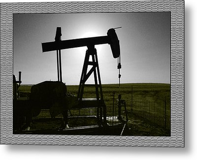Oil Well Metal Print