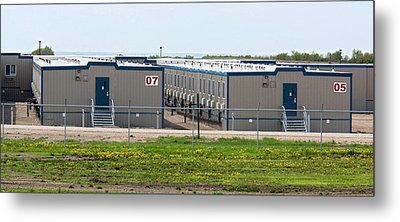 Oil Workers' Accommodation Metal Print by Jim West
