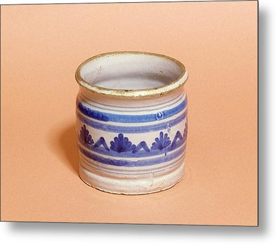 Ointment Pot Metal Print by Science Photo Library