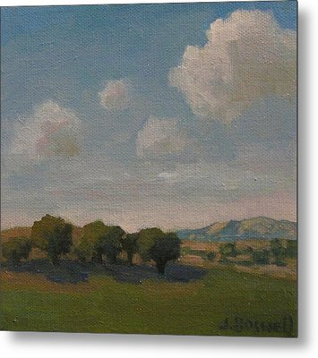Metal Print featuring the painting Ojai Oaks by Jennifer Boswell