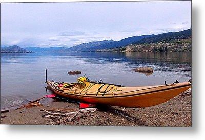 Okanagan Lake - Kayaking Metal Print by Guy Hoffman